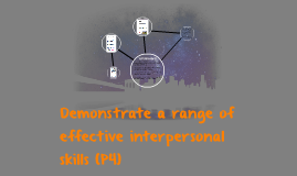 Demonstrate a range of effective interpersonal skills (P4)