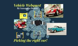 Vehicle Webquest