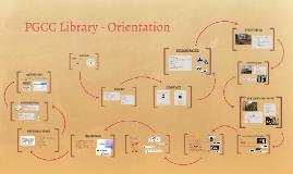 PGCC Library - Orientation