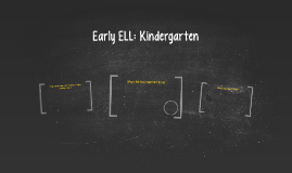 Early ELL: Kindergarten