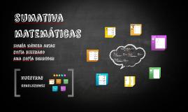 sumativa matemáticas
