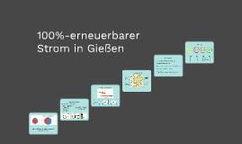 100 % erneuerbarer Strom in Gießen