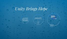 Unity Brings Hope