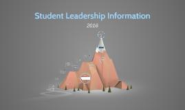 2015 Student Leadership Information