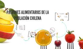 PATRONES ALIMENTARIOS EN CHILE