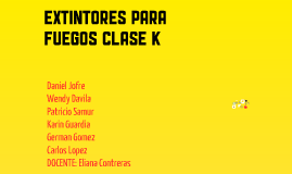 Extintores CLASE K