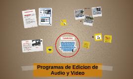 Copy of Programas de Edicion de Audio y Video