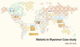 Malaria in Myanmar DP geography