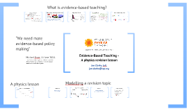 Evidence-Based Teaching - A physics revision lesson