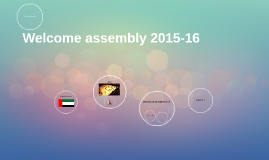 Welcome assembly 2015-16