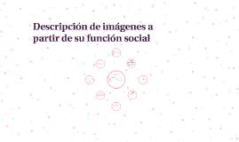 Descripción de imágenes a partir de su función social