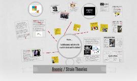 Anomie / Strain Theories