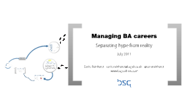 Managing BA careers