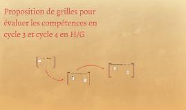Proposition de grilles pour évaluer les compétences en cycle