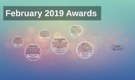 February 2019 Awards