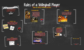 Copy of Rules of a Volleyball Player