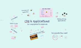 BIO-7034Y: CVs & Applications