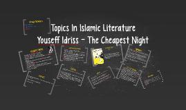 Copy of Topics In Islamic Literature