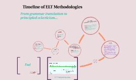 Timeline of ELT Methodologies