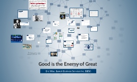 BNI--Good is the Enemy of Great
