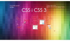 CSS I CSS3
