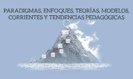 PARADIGMAS- ENFOQUES-TEORÍA-MODELOS-CORRIENTES Y TENDENCIAS PEDAGÓGICAS