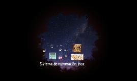Sistema de numeración Inca