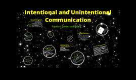 Copy of Intentional and Unintentional Communication