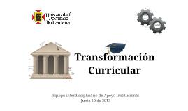 Transformación Curricular