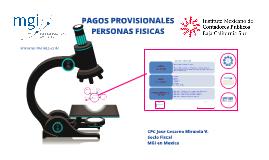 PAGOS PROVISIONALES Personas Fisicas