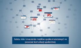Istota, rola i znaczenie mediów spolecznościowych w procesie