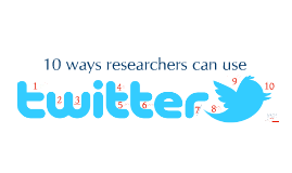 10 ways researchers can use Twitter