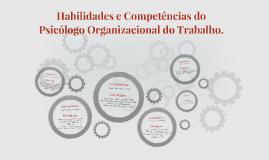 Habilidades e competências do psicólogo organizacional do tr