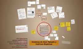 SISTEMAS DE GRAN TAMAÑO Y MATRICES DISPERSAS