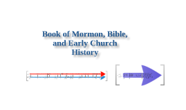 Book of Mormon & Bible Chronology