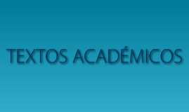 TEXTOS ACADÉMICOS