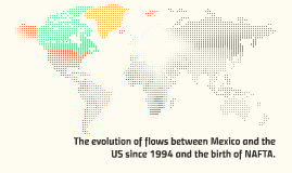 The evolution of flows on the border with Mexico and the US