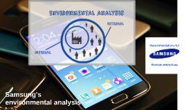 Samsung's environment analysis