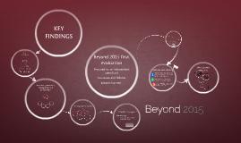 Beyond 2015 - most basic evaluation
