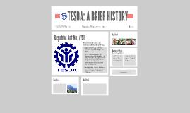 TESDA: A BRIEF HISTORY