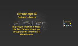 Copy of Curriculum Night 2016