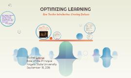OPTIMIZING LEARNING