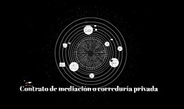 Contrato de mediación o correduría privada