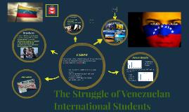 The Struggle of Venezuelan International Students