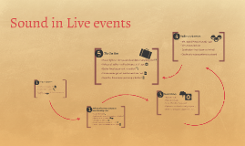 Sound in Live events