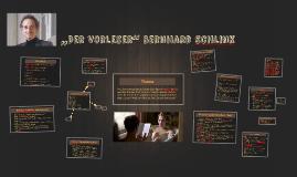 """""""Der Vorleser"""" Bernhard Schlink"""