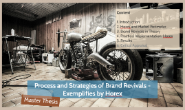 Process and Strategies of Brand Revivals - Exemplified by Horex