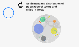 Settlement and distribution of population of towns and citie
