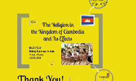 Religion in Kingdom of Cambodia