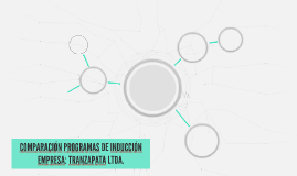 COMPARACIÓN PROGRAMAS DE INDUCCIÓN